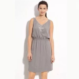 NEW Eileen Fisher Silk Georgette V-Neck Dress L